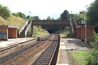 Wood End station looking towards Danzey